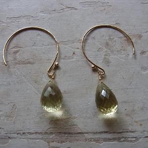 レモンクォーツ sizuku pierced earrings