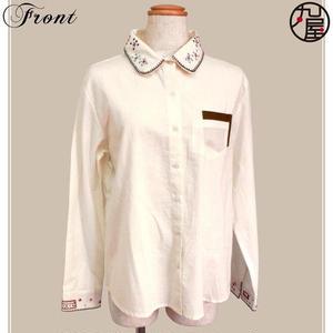 刺繍インド綿シャツ