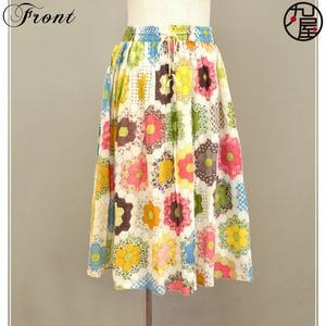 花柄ガーゼスカート