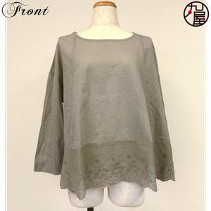 裾レースフレア七分袖