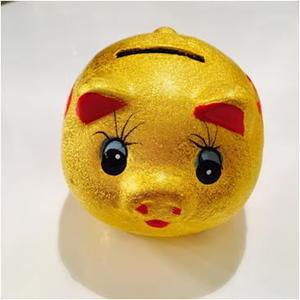 金豚の貯金箱(小)