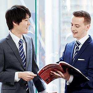 男性をオンライン英会話教室へ入会を促すクッション記事3500文字!