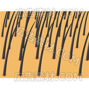 抜け毛が進行している頭皮イメージ(形式PNG/サイズ640*640)
