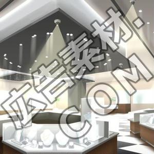 スマホ広告向け背景画像:高級宝石店の店内