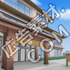 スマホ広告向け背景画像:高級旅館の外観