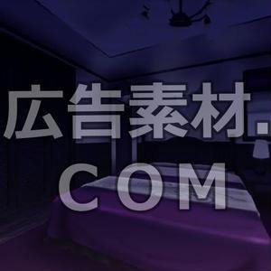 スマホ広告向け背景画像:電気を消したベットルーム