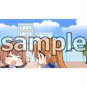 女子学生の就活面接(マンガ広告素材4枚)