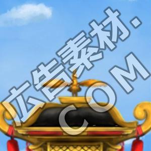 スマホ広告向け背景画像:神輿の上