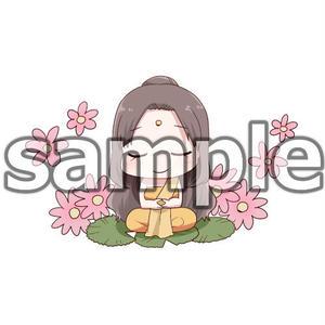 可愛いお釈迦様(背景色クリア/1枚)