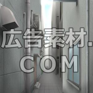 スマホ広告向け背景画像:怪しい路地裏(昼)