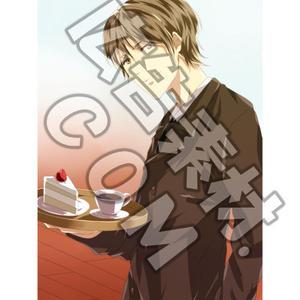 イケメンのカフェオーナーキャラスチル画像1(1枚絵/PSD付き)