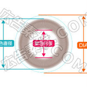 コンタクトレンズ直径(DIA)イラスト図解