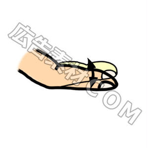 「指の動きの手書き風図解2」PFG画像素材
