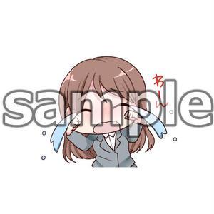号泣女子(イラストキャラ/背景色:クリア)