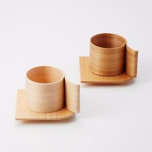 YOnoBI 木製カップ&ソーサー【α Ⅱ】