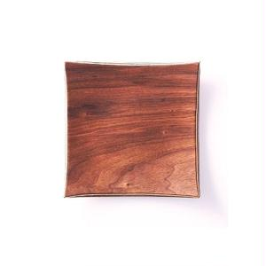 ■Gold Craft 木製プレート【SHIMA-SHIMA】S / square