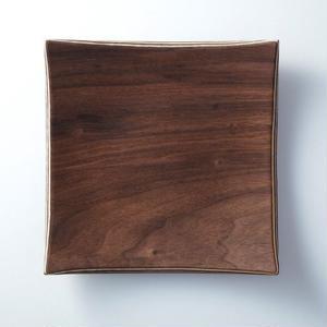 ■Gold Craft 木製プレート【SHIMA-SHIMA】M / square
