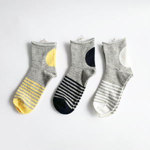 *レディース*prit★プリット★ Big Dot×Border Short Socks ビッグドット×ボーダーショートソックス(01962)