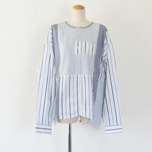 *ユニセックス*yoused ★ユーズド★Side Button Big Shirts サイドボタンビッグシャツ(C柄)