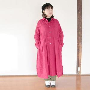 *レディース*OMNIGOD★オムニゴッド★リネンキャンバスワイドワークドレス (57-589X)レッド