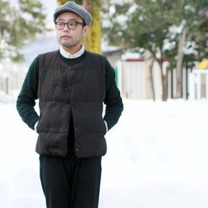 MEN'S LAMOND★ラモンド★C/P/Nピーチダブルダウンベスト(LM-O-053)