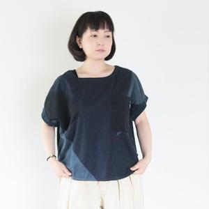 *レディース*clip.tab★クリップタブ★ 度詰天竺 ツギハギパネルボートネックTシャツ(3181C-001)