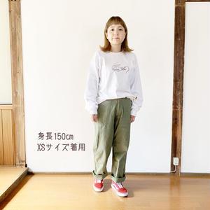 女性着用*MASTER&Co*マスターアンドコーLong Chino Pant with Belt オフィサーチノ(オリーブ)