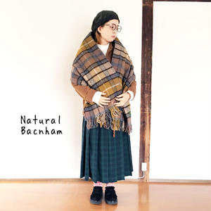 *goods*TWEEDMILL★ツウィードミル★ストール 大判 ブランケット(Natural Bacnham)