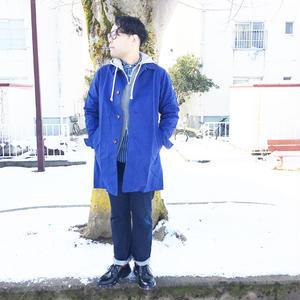 *男性着用* ARVOR MAREE★アルボマレー★SHORE COAT (ブルー)