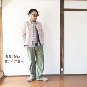 男性着用*MASTER&Co*マスターアンドコーLong Chino Pant with Belt オフィサーチノ(オリーブ)