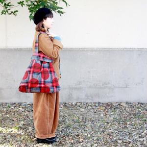 grin★グリン★起毛コットン三角バッグ(8175A-007)