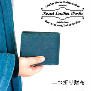 *完売いたしました*RE.ACT★リアクト★  Indigo Basic Wallet  大和藍染め 二つ折り財布