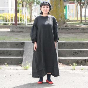 ※ラスト一点となりました*レディース*【h】yumi sakurai★(アッシュ)ユミサクライ★ふわふわ8分袖ワンピース