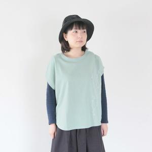 *レディース*NATURAL LAUNDRY★ナチュラルランドリー★ ベーシック刺繍Tシャツ(7181C-031)