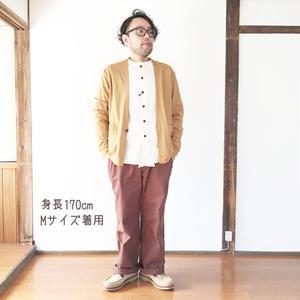 新色!男性着用*MASTER&Co*マスターアンドコー★Long Chino Pant with Belt オフィサーチノ(ブラウン)