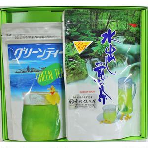 水出し煎茶ティーバッグ+グリーンティー 袋詰め箱入り
