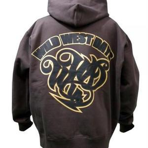 WWD zip hood / WWD LA BACKPRINT (Color: Brown / Khaki)