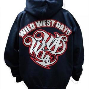WWD zip hood / WWD LA BACKPRINT (Color: Navy / Red)