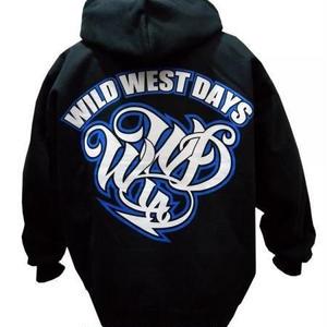 WWD zip hood / WWD LA BACKPRINT (Color: Black / Blue)