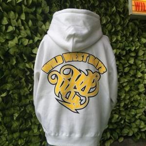 WWD zip hood / WWD LA BACKPRINT (Color: white / yellow)