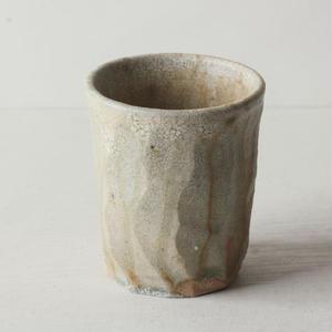 ナラ灰 面取りカップ (小) / 及川 静香 [ 陶 ] 080716_076