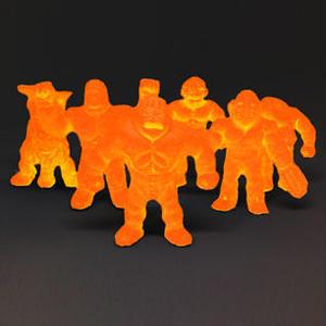 第1弾 妖怪レスラー・クリスタル蓄光(橙)全6種