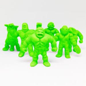第1弾 妖怪レスラー・全6種(緑)消しゴム人形