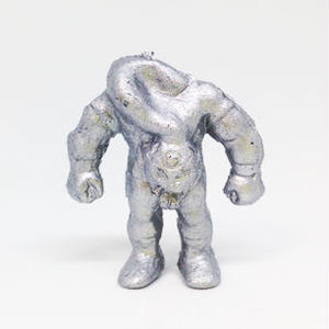 妖怪レスラー・ロクロマスク(銀)プラスチック人形