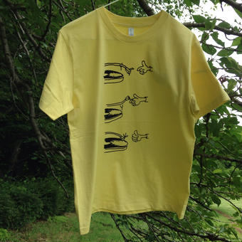 NEEDLE DROP Tshirt 5.3oz ライトイエロー