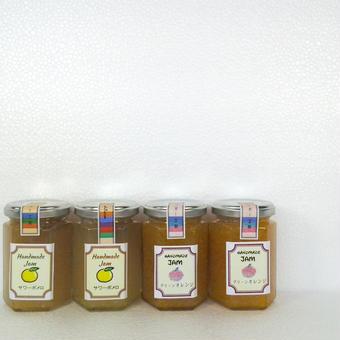 【薩摩ビネガー工房】手作りジャム(サワーポメロ・グリーンオレンジ各2個)4個セット