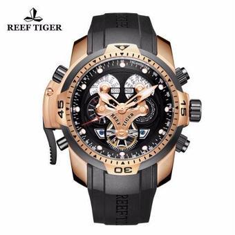 【送料無料!】REEF TIGER メンズ 機械式腕時計 ミリタリー スポーツ腕時計 RGA3503(PBBG)