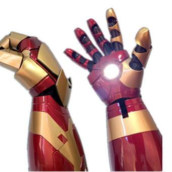 【送料無料!】1/1 アイアンマン MK42 アーマーハンド 右手 自動的 音声が鳴る ledが光る cosplay道具 着用できる【新品】