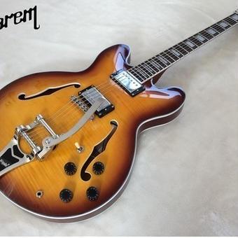 【送料無料!】カスタムエレキギター ソリッドボディ ジャズ トレモロ 39インチ マホガニー優しい音色 クリーンな音 ノーブランド