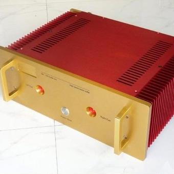 【送料無料!】パワーアンプ amp 200W ノーブランド レッド/ゴールド オマージュアンプ